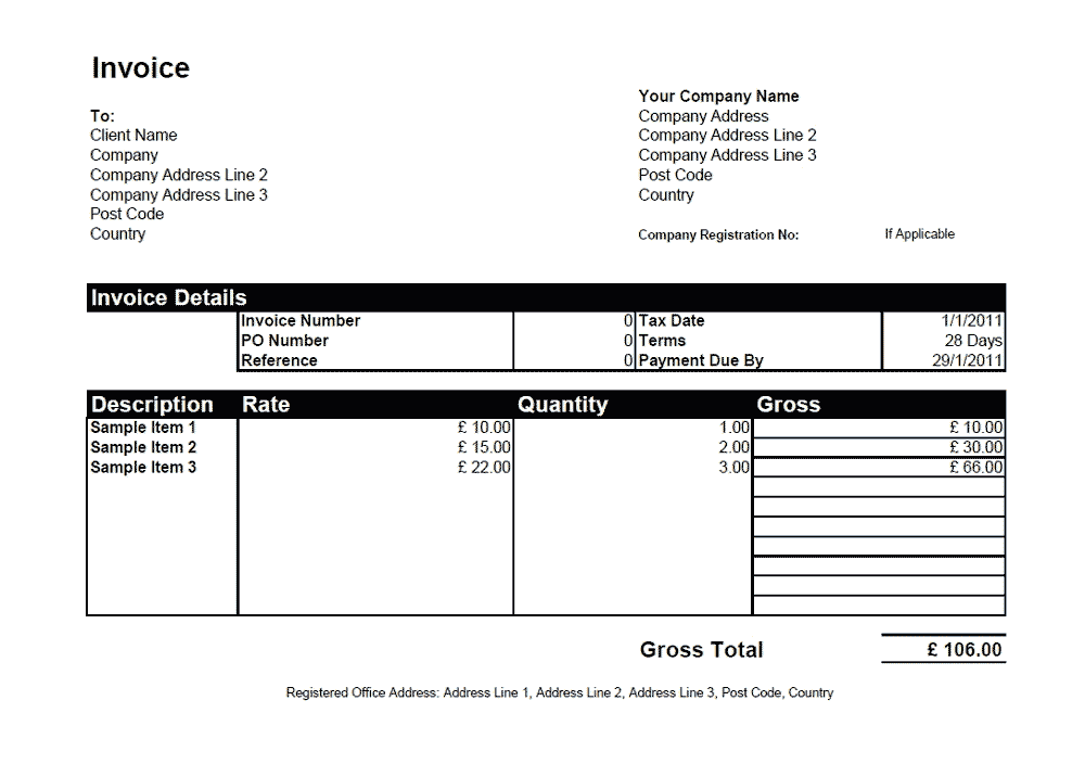 simple invoice template word. word invoice template invoice, Invoice templates
