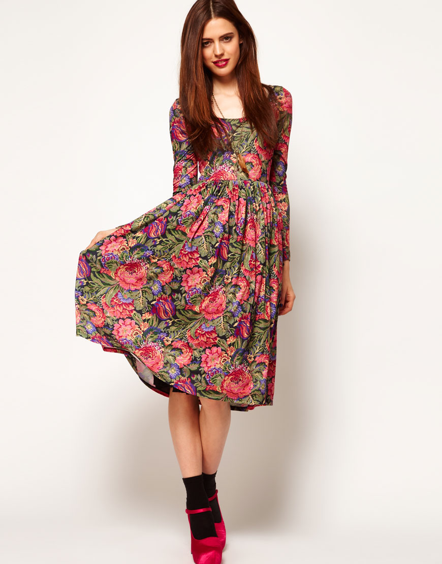 Latest Floral Dresses For Women 2013 - Inkcloth-8861