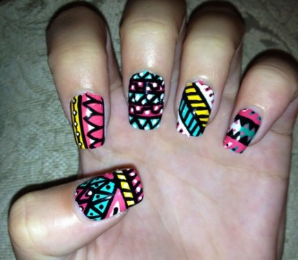 hand-painted-nail-art-idea-for-girls