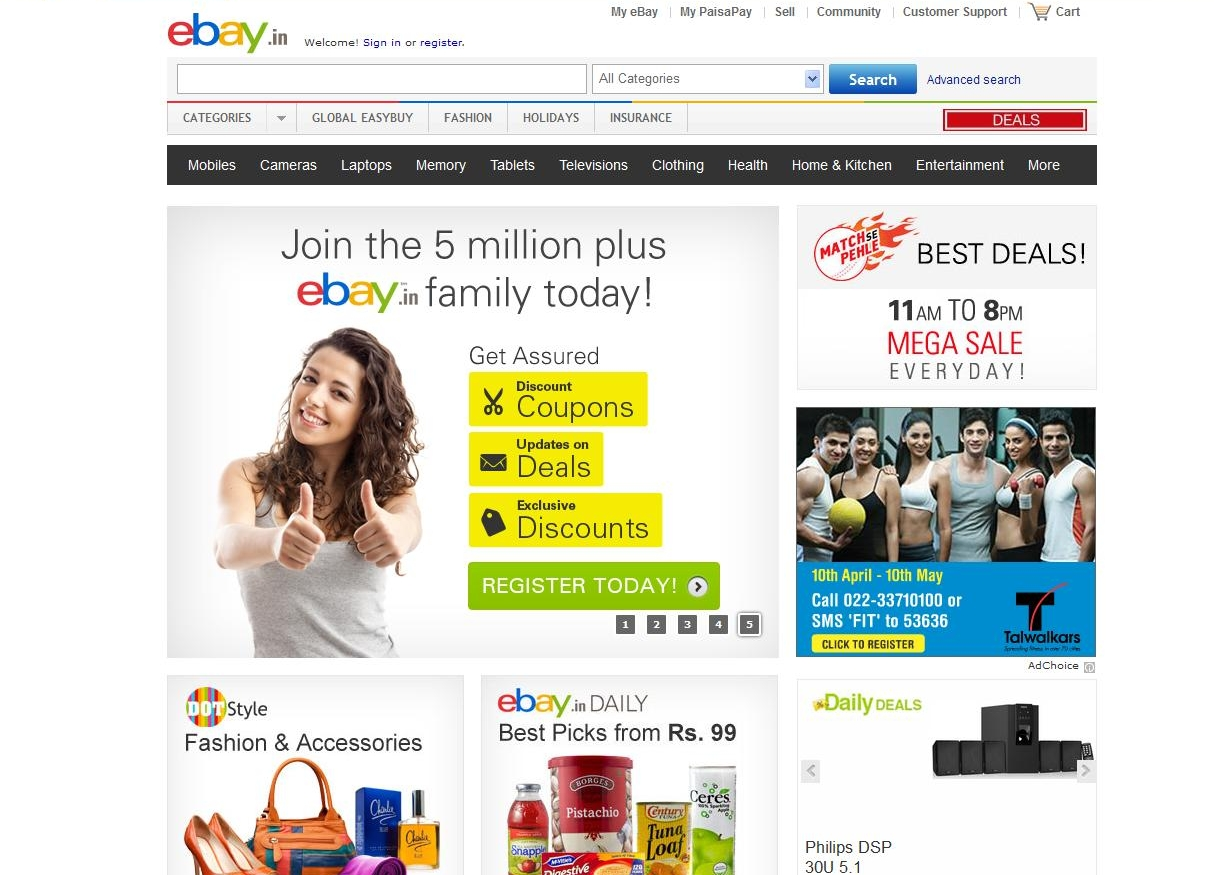 Top 10 online shopping websites in india 2013 for Best international online shopping sites