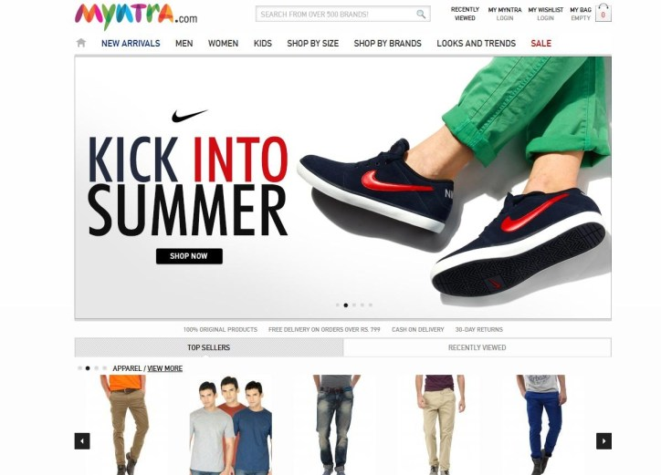 myntra-online-shopping-websites-in-india