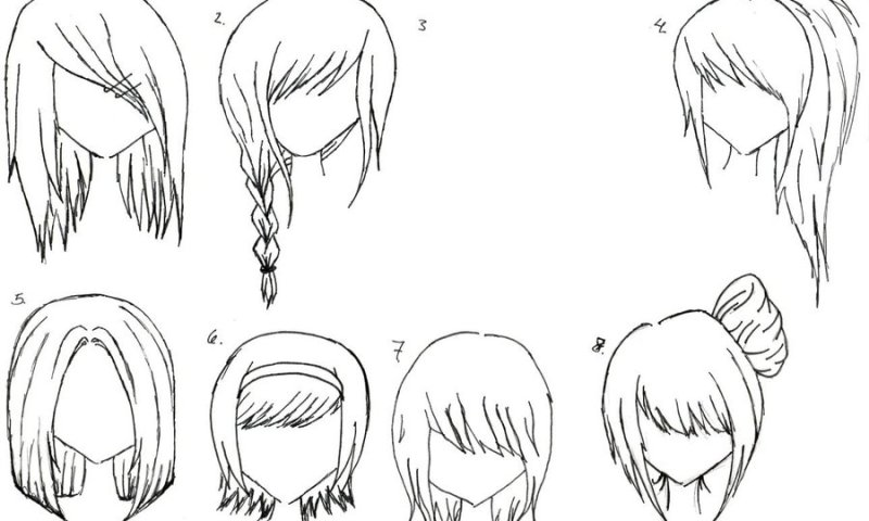 anime hairstyles - inkcloth