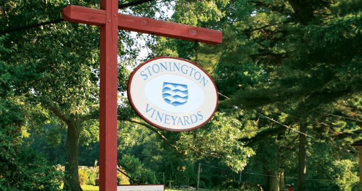 Stonington vineyards Sign