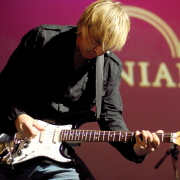 Paul Nelson and a favorite Stratocaster.
