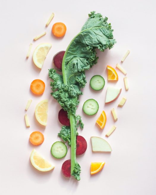 Fruits and vegetables for post laser tattoo removal