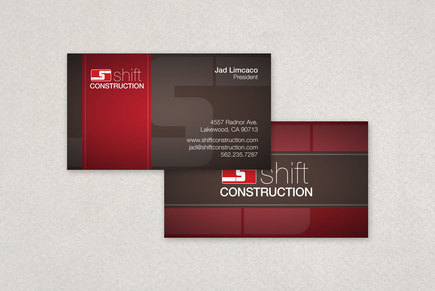 Construction Company Business Card Template Inkd
