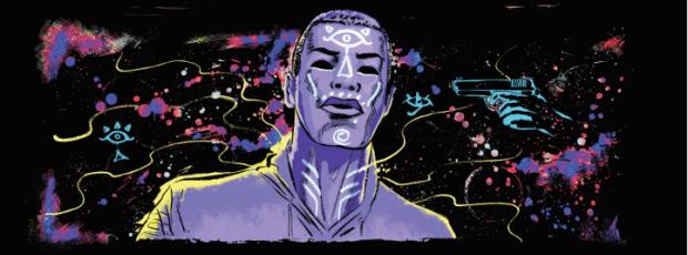Dante using his powers in Gray Cells comic