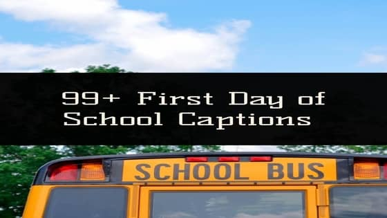 first day of school captions