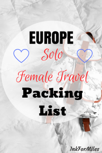 europe packing list