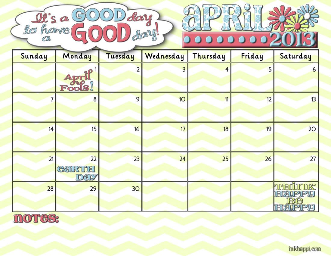 It S Your April Calendar