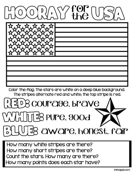 red white amp blue hooray for the usa printables inkhappi