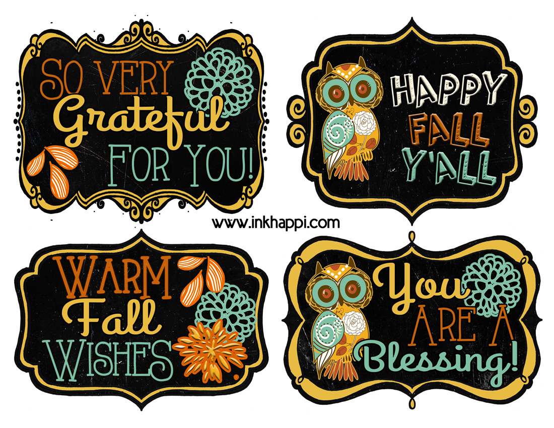 Fall Printable T Tags To Show Your Gratitude