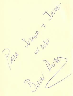 Autografo Belén Rueda