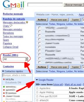Gmail Google Reader Firefox