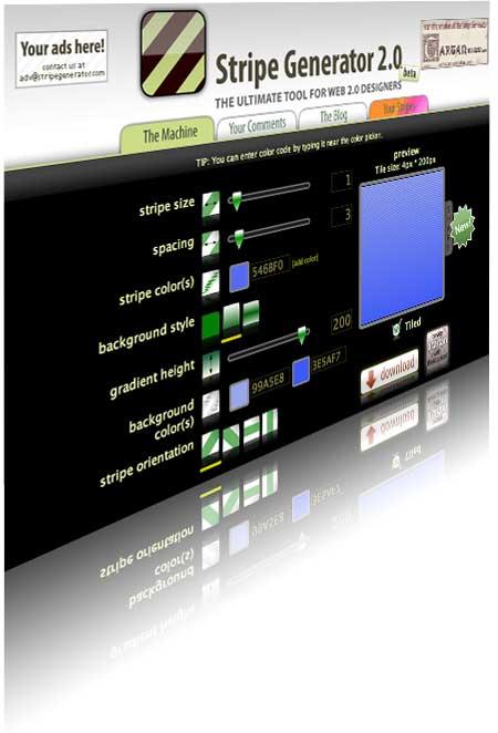 Generador online para diseños web 2.0