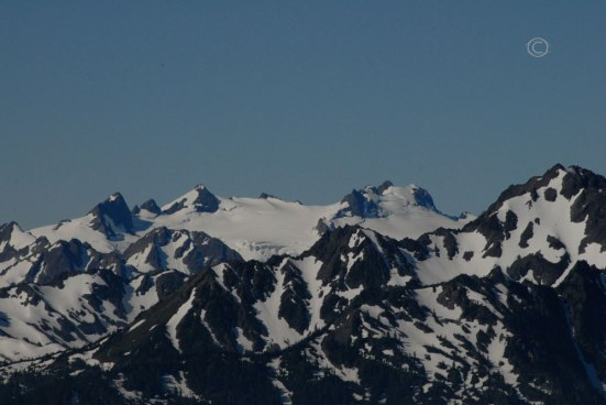 Stephen Peak 6,418 feet, Blue Glacier, Mt. Olympus 7,980 feet