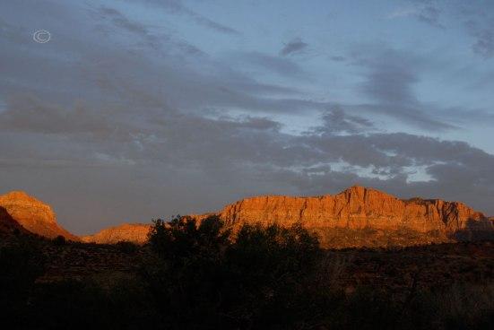 Cliffs of Zion at sunset