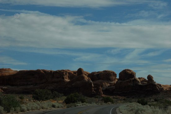 Driving to the Dunes, Arches