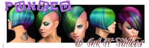 Punked Neon Hair dye at Ink It Tattoos Durban