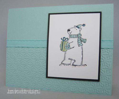 Polar Bear Christmas OR Birthday Card Ink It Up With