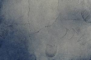 footprints on cement