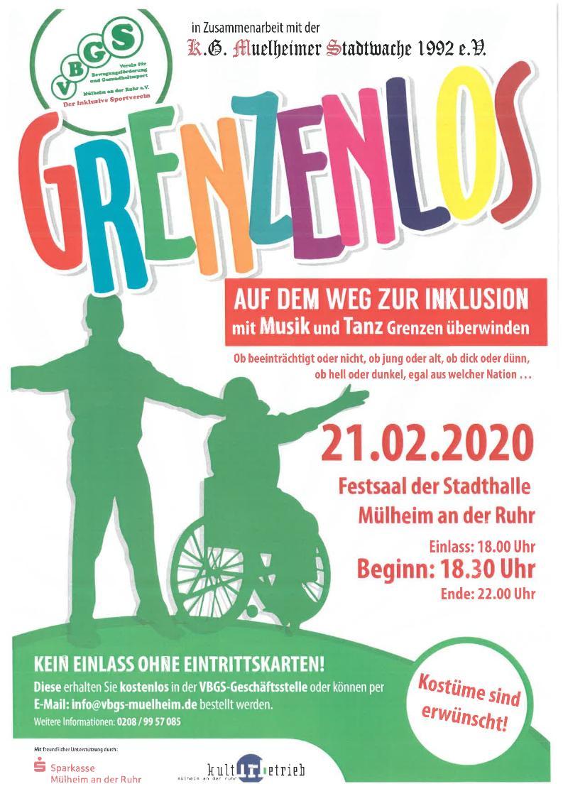 GRENZENLOS - Veranstaltungsplakat