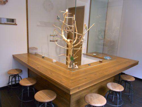 鳥カフェLovebird Cafe CHERRYの店内の内装・座席の様子