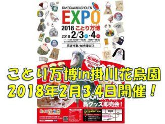第二回ことり万博in掛川花鳥園が2018年2月3日4日に開催