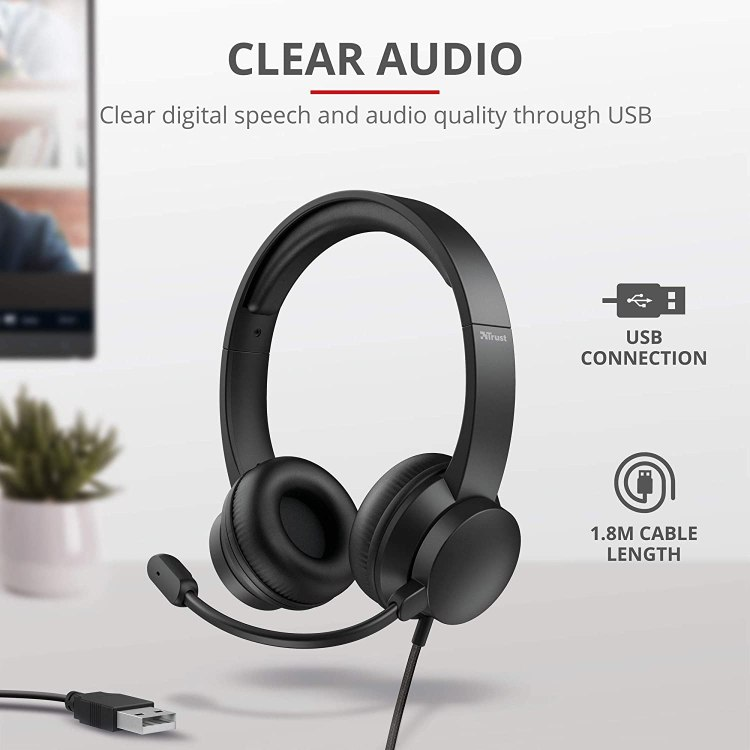 Cuffia + microfono Usb 2.0 Roha Trust [24188]