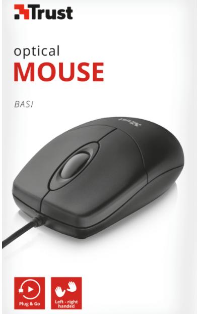 Mouse Large Ottico Cavo USB 2.0 Trust col.nero [16591]
