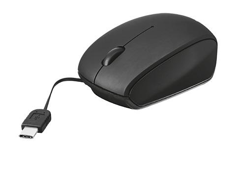 Mouse Small Ottico Cavo USB Type-C Trust col.nero