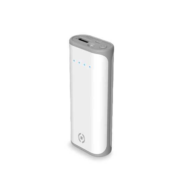Caricabatterie Portatile 5000mAh SmartPhone Celly col.bianco