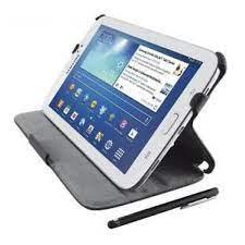 """Custodia/Stand in pelle sintetica Galaxy Tab 3 7"""" con penna Trust col.nero"""