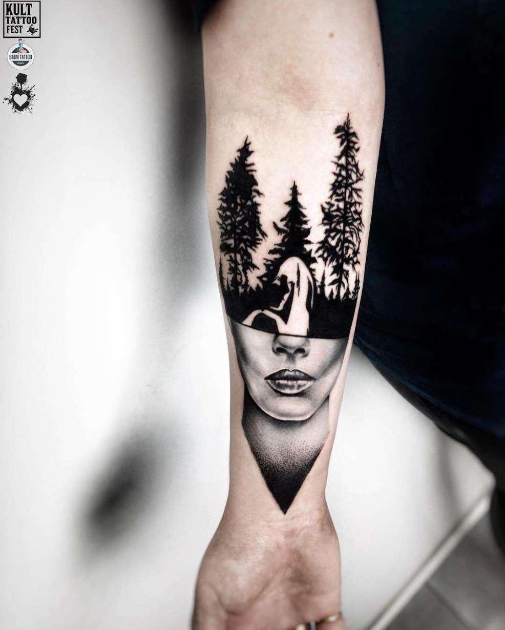 блэкворк татуировки Ufo