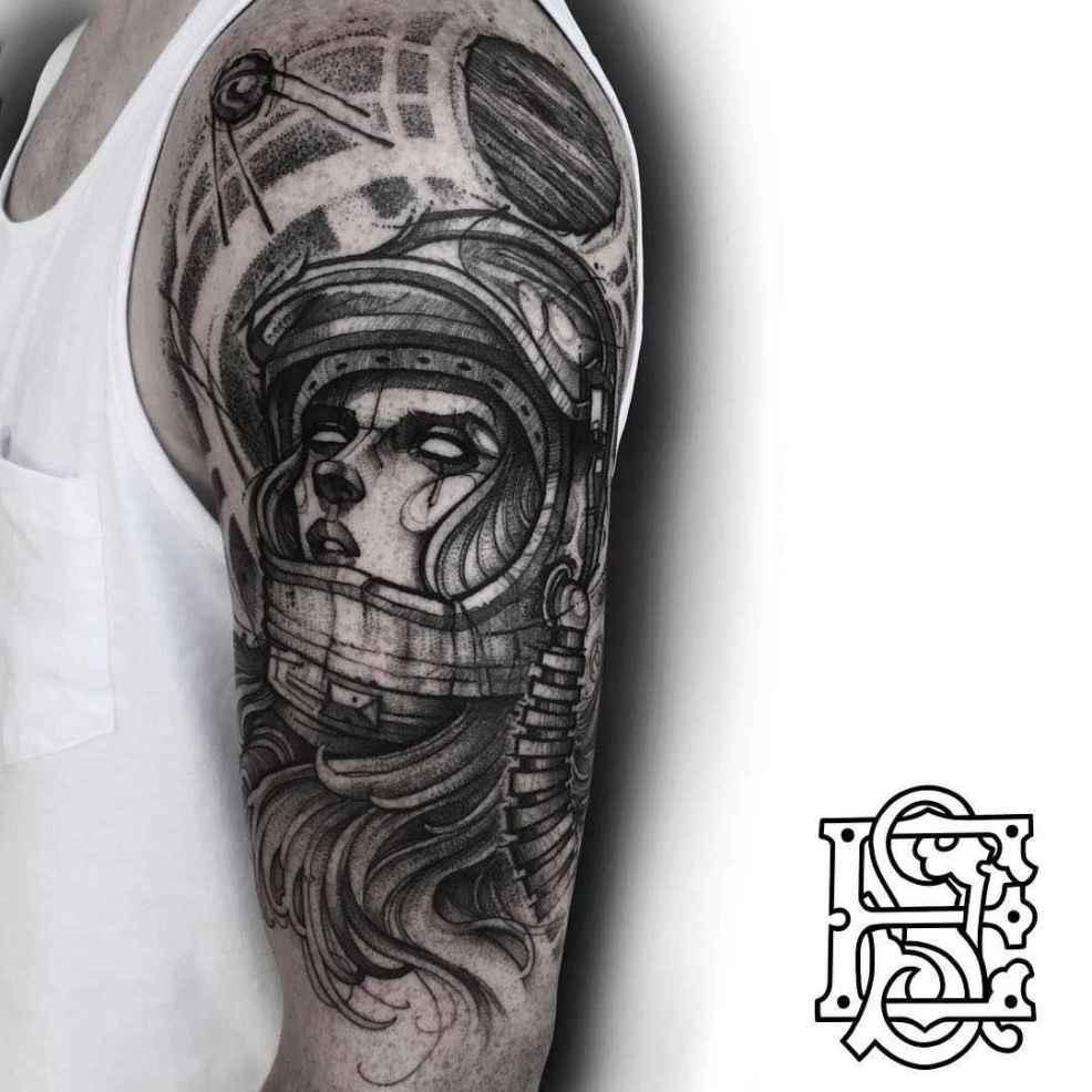 Blackwork Tattoo By Eddie Stacey