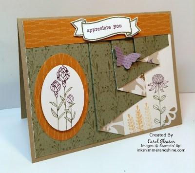 Flowering Fields Drapery Fold card