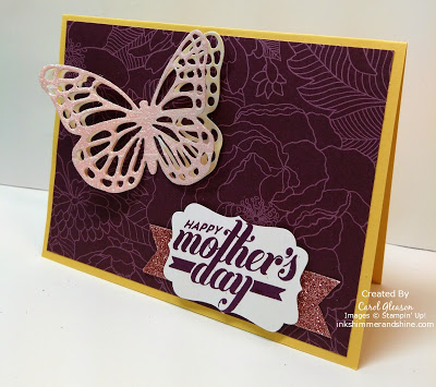 Mother's Day card with glimmery Butterflies Thinlits Dies