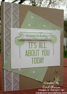 Birthday card with Stampin' Up! Hooray It's Your Day stamp set.