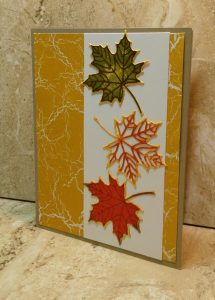 Autumn Leaves created with the Stampin; Up! Colorful Seasons bundle and several ink pads.