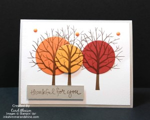 Thankful For You Fall card with enamel shapes