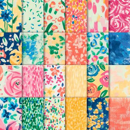 "The Stampin' Up! Garden Impressions paper is 6  x 6"". The vibrant patterns include bright colors like Mango Melody, Melon Mambo and Calypso Coral."