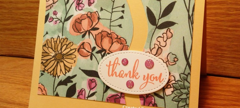 Quick and easy thank you card with Share What You Love paper