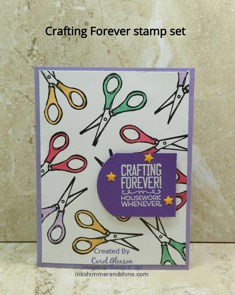 Scissors background created with the Crafting Forever stamp set by Stampin' Up!. Color it with your favorite markers.
