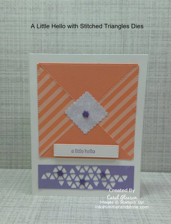 A Little Hello Card: How to Use Stitched Triangles Dies for an easy Envelope Card