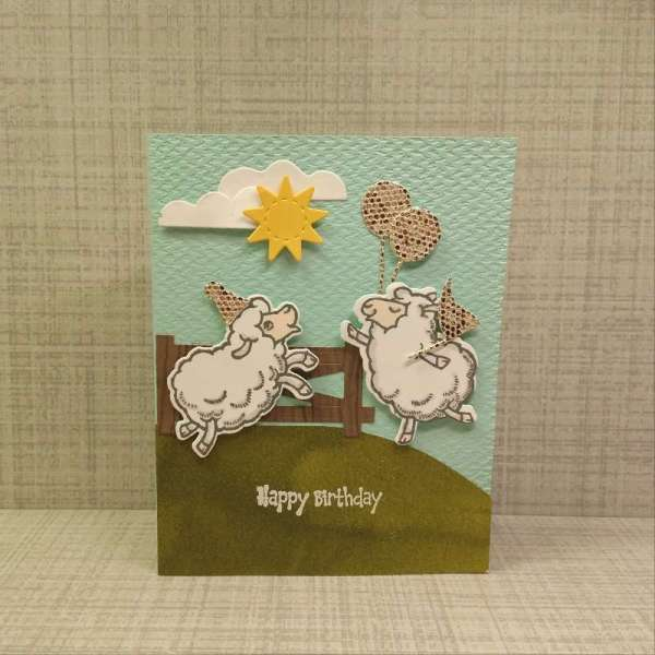 Sale-a-Bration Sheep: Two dancing sheep are decked out with Be Dazzling accessories to celebrate a birthday today.