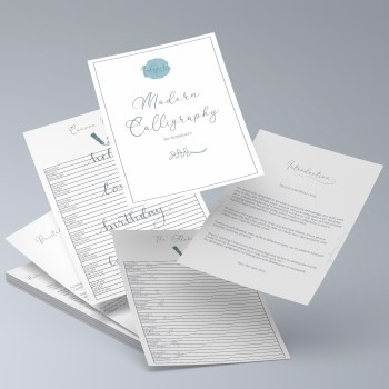 Modern calligraphy for adults kits
