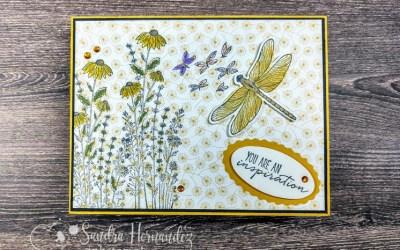 Fun Fold February and Dragonfly Garden make a W Fold Card