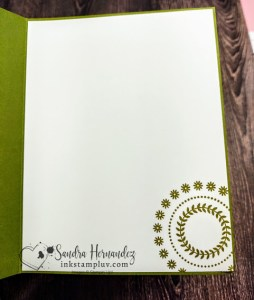 Inside of Card Simple Stamping