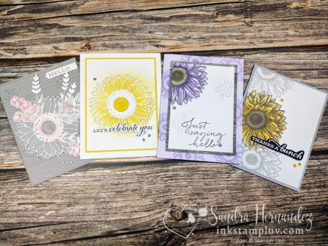 Celebrate Sunflower Class Cards, 4 of them
