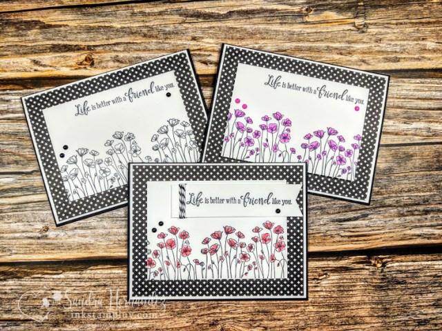 3 poppy cards